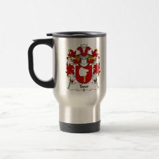 Topor Family Crest Stainless Steel Travel Mug