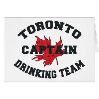 Toronto Drinking Team Captain Greeting Card