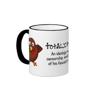 Totalitarian regimes restrict your rights and diet ringer mug