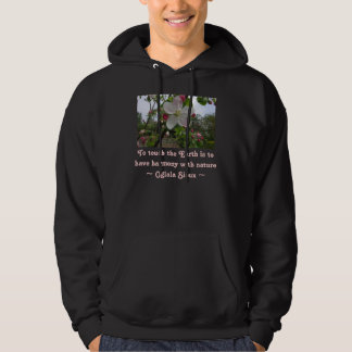 touch the Earth mens hoodie