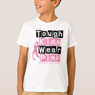 Tough Kids Wear Pink For Breast Cancer Awareness Tshirts