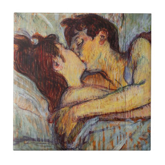 Toulouse-Lautrec In Bed The Kiss Tile