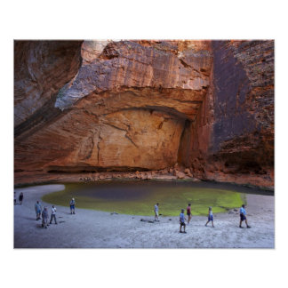 Tourists at Cathedral Gorge, Bungle Bungles Poster