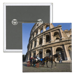 Tourists enjoying a carriage ride in front of 15 cm square badge