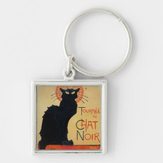 Tournee Du Chat Noir Silver-Colored Square Key Ring