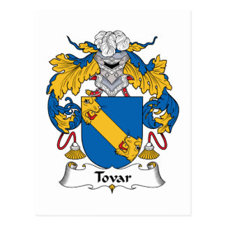 Tovar Family Crest Postcard
