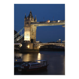 Tower Bridge at Night 13 Cm X 18 Cm Invitation Card