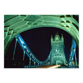 Tower Bridge at night, London, England 13 Cm X 18 Cm Invitation Card