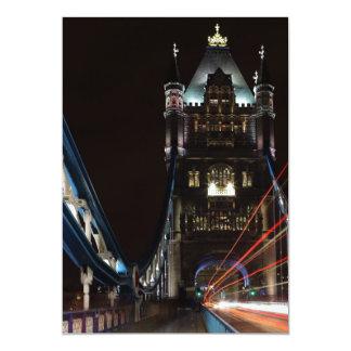 Tower Bridge Lights London United Kingdom Europe 13 Cm X 18 Cm Invitation Card