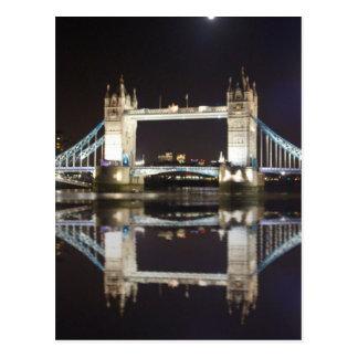 Tower Bridge Reflected Postcard