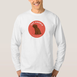 Toy Poodle Long SleeveT-shirt (White) Tee Shirts
