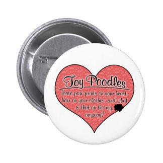 Toy Poodle Paw Prints Dog Humor 6 Cm Round Badge