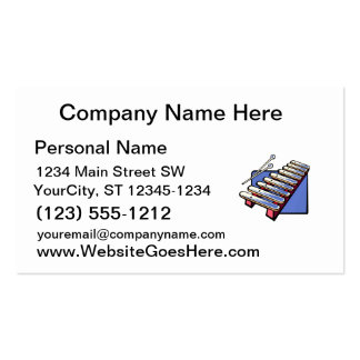Toy xylophone with mallets, blue graphic pack of standard business cards