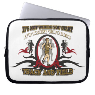 Track and Field Start Laptop Computer Sleeve