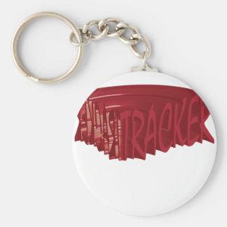 Tracker rock Rocker club Band Basic Round Button Key Ring
