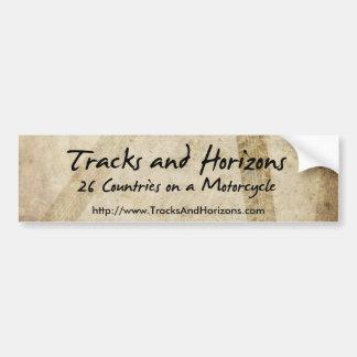 Tracks and Horizons Bumper Sticker