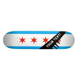 Traditional Chicago flag 18.1 Cm Old School Skateboard Deck