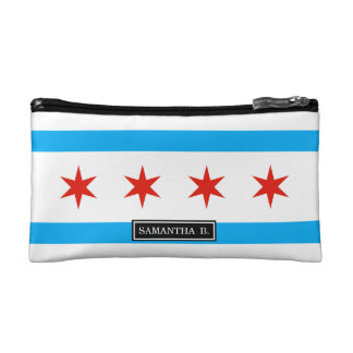 Traditional Chicago flag Cosmetics Bags