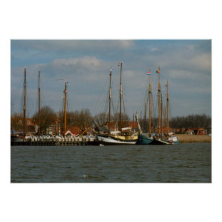 Traditional Dutch Sailing vessels, Enkhuizen Poster
