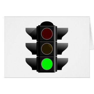 Traffic light traffic light green green greeting card