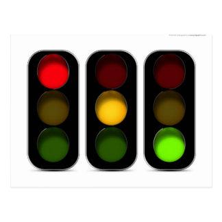 Traffic Lights Design Postcard