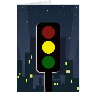 Traffic lights! greeting card