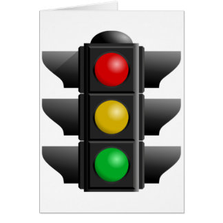 Traffic Lights Greeting Cards