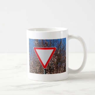 Traffic sign basic white mug