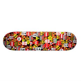 Traffic signs skateboard