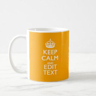 Traffic Yellow Decor Keep Calm And Your Text Basic White Mug