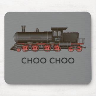 Train Engine Choo Choo or Customize Text Mouse Pad