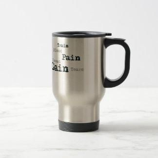 Train pain gain fitness stainless steel travel mug