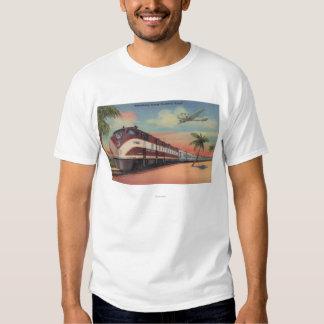 Train- Streamlining through Florida Tee Shirts