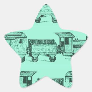 Trains Trains and still Trains Star Sticker
