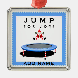 trampoline Christmas holidays Silver-Colored Square Decoration