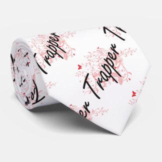 Trapper Artistic Job Design with Butterflies Tie