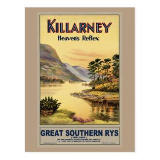 Travel Killarney Ireland by Railways Vintage Postcard