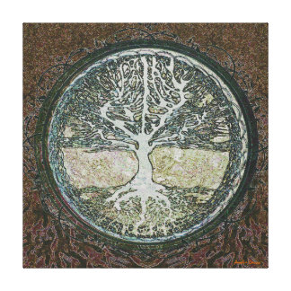 Tree of Life in Brown Stretched Canvas Print