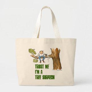 tree surgeon jumbo tote bag