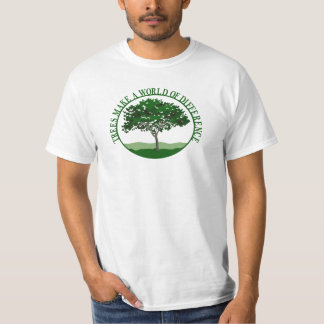 Trees Make a World of Difference Mens Value T Tees