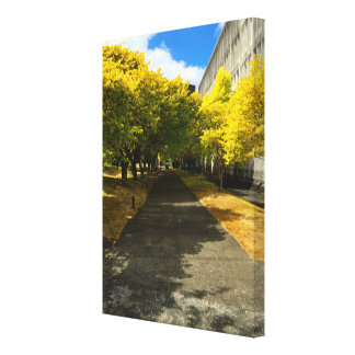 Trees Over Footpath Wrapped Canvas Canvas Prints
