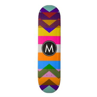 Trendy Chic Chevron Stripes Pattern 20 Cm Skateboard Deck