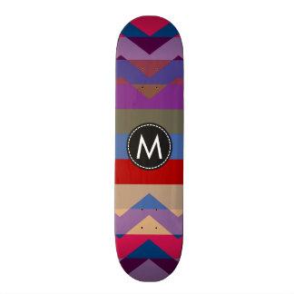 Trendy Chic Chevron Stripes Pattern #5 Skateboard Deck