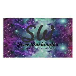 Trendy Cool Sparkly New Nebula Design Pack Of Standard Business Cards