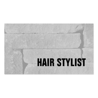 Trendy Grey Wall Modern Hair Stylist Pack Of Standard Business Cards