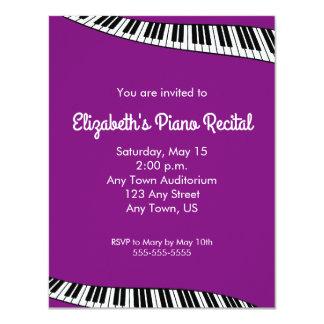 Trendy Piano Keyboard, Piano Recital Invitation