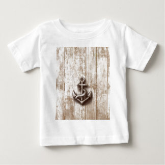 Trendy vintage rustic nautical anchor infant T-Shirt