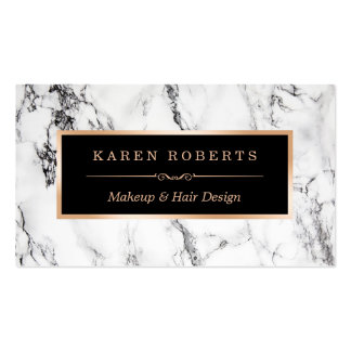 Trendy White Marble Makeup Artist Hair Salon Pack Of Standard Business Cards