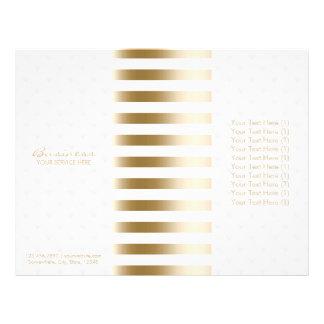 Tri-Fold Modern Gold Stripes & Diamond Quilted 21.5 Cm X 28 Cm Flyer
