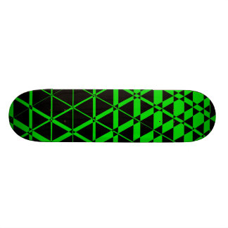 Triagonal Ebony (Lime) Skateboard Deck